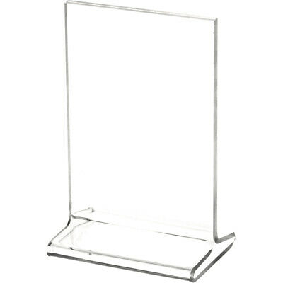 "Plymor Clear Acrylic Sign Display / Literature Holder (Top-Load), 3.5"" W x 5"" H"