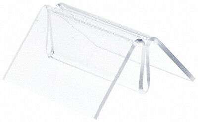 """Plymor Acrylic Pinch-Style Sign Clip Display w/ Label Front 1.5""""W x 2.5""""Dx1.25""""H"""