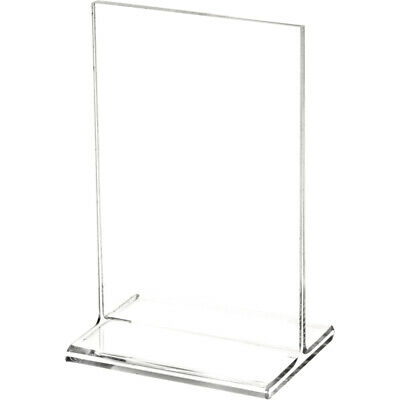 "Plymor Clear Acrylic Sign Display/Literature Holder (Top-Load), 3.5"" W x 5.5"" H"