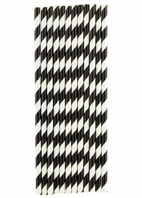 Black And White Party Drinking 100% Eco Biodegradable Compostable Paper Straws