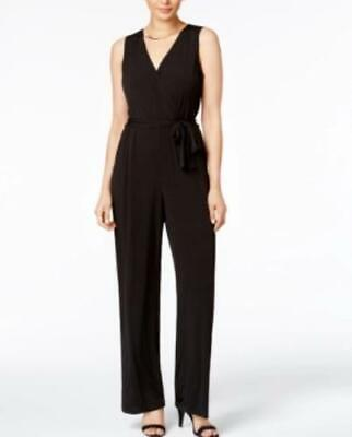 NY Collection Petite Women's sz PXS Sleeveless Waist Tie Stretch Jumpsuit