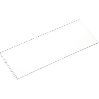 """Plymor Clear Acrylic Folder-Style Sign Display Holder/Protector, 6.5""""W x 2.25""""H"""