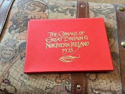 1973 Royal Mint Proof Coin Set cover and insert. No box or coins.