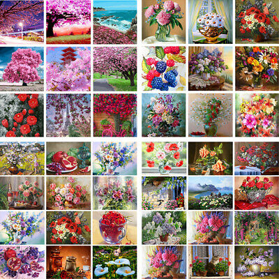 DIY Flower Pattern Funny Acrylic Gift Oil Painting Paint By Number Kit Digital