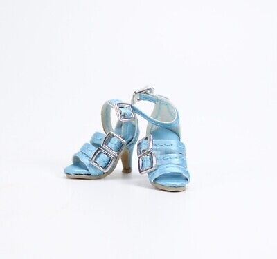 The Vogue: Poppy Parker/East 59th Faux Leather Blue Strap High Heeled Shoes