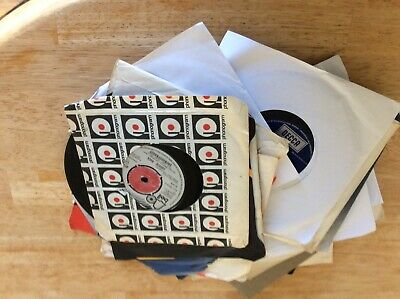 """Attic Found  Job Lot Collection Of  20  7"""" Vinyl Singles Single Records Colector"""