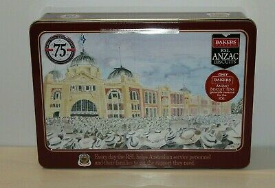 T2029 Anzac Biscuit Tin VP Day in Melbourne 500g Empty 2020