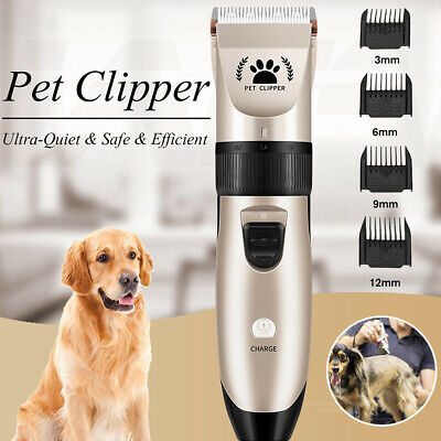 Dogs Electric Clippers Low Noise Professional Pet Hair Grooming Trimmer Tool Kit