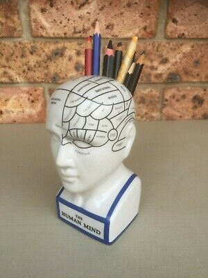 Small Pottery PHRENOLOGY HEAD Pen Holder
