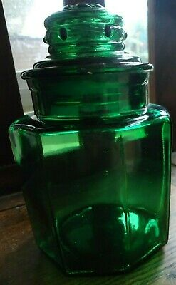 Antique Apothecary / Candy Shop Green Glass Jar