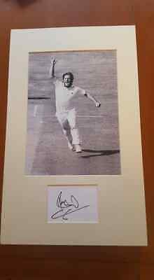 Ian Botham  Signed Card Mounted With A 10X8 Photo