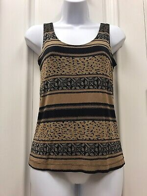 Stretchy Slinky Chico's Travelers Acetate/Spandex Tank Top Size 0 Small 6-8