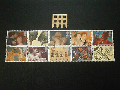 Gb Stamps 1995 Greetings Stamps Greetings In Art Block Of 10 Fine Used