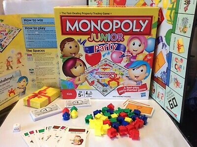 Monopoly Junior Hasbro Property Trading Game Party Themed 5+ years cupcakes gift