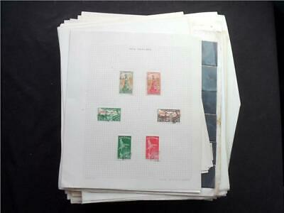 UPA6311 NR 140 pics B COMMONWEALTH MAINLY USED STAMPS COLLECTION ON LOOSE LEAVES