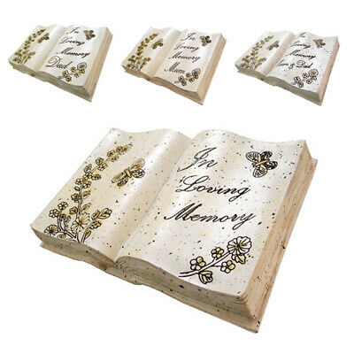 In Loving Memory Memorial Stone Effect Engraved Graveside Book Butterfly Flowers