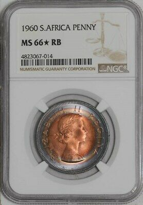 1960 South Africa Penny MS66* RB NGC  942090-3