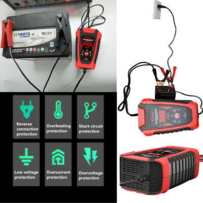 Automatic Electronic Car Battery Charger 12V/6V Fast/Trickle/Pulse Repair 2/6AMP