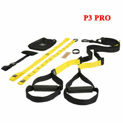 Pro3 TRX Trainer Suspension Straps Body Weight Home Gym Fitness Resistance Bands
