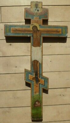 71cm  Ikonen kreuz Russland 19.Jh Russian Icon Cross