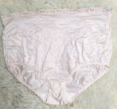 Vintage Maidenform No Show Fancy Light Pink Made in USA Granny Panty Panties 7 L