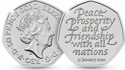 Official UK Brexit 50p Coin Brand New 31st January 2020 ....T0003.