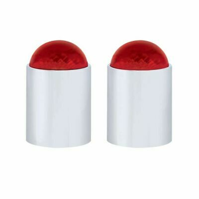 "UP Bumper Guide Tops For 1"" Threaded Pipe Dome Style Red Plastic #86076 Pair"