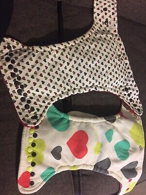 GrayStar hybrid fitted cloth diapers bamboo cotton one size hearts snap inserts