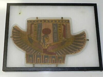 Cartonnage Fragment of Winged Isis on Her Knees in Brilliant Color 300BC