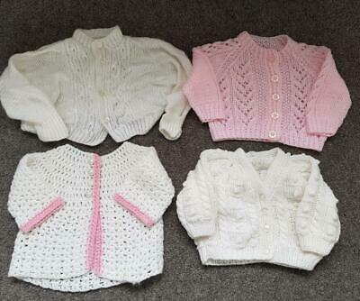 Baby Girl  Bundle Hand Knitted Cardigans 0-3 Months #1