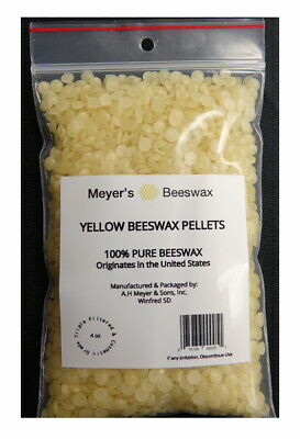 Pure USA Beeswax - Not Imported - Additive Free Triple Filtered Pellets, 4 oz