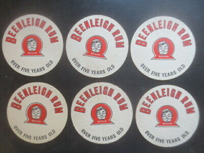 6 x BEENLEIGH  Rum Spirits Australian 1960,s Issue collectable COASTERS