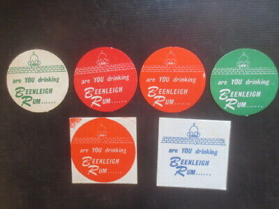 6 Diff. BEENLEIGH  Rum Spirits Australian 1980,s Issue collectable COASTERS