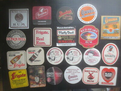 21 different  RUM DISTILLERY mainly Australian  Issue COASTERS