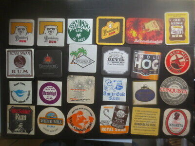 24 different  RUM DISTILLERY mainly  Australian & some English Issue COASTERS x