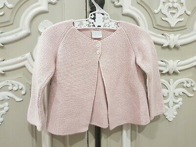 Pepa & Co. Spanish Made Traditional Style Baby Girl Cardigan Size 9 Months