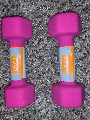 CAP Hex Neoprene 5 lb Pound Set of Two Dumbbell Weights NEW IN HAND SHIPS ASAP