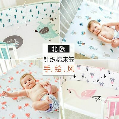 Baby Bed Sheet 100% Cotton Crib Fitted Sheets Soft Baby Mattress Cover Protector
