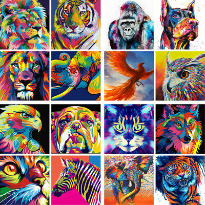 Funny Paint Kid Oil DIY Animals On Painting Number Colorful Acrylic Surprise