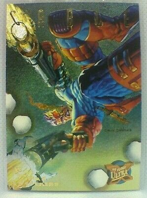 Fleer Ultra X-men (1995) Hunters And Stalkers Chase Card #2 - Cable