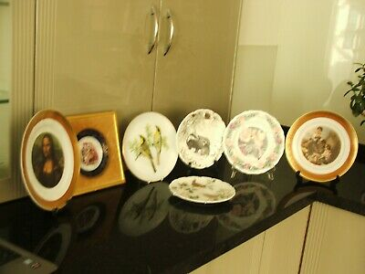 Plates Collectible. French,Dresden,Royal Albert, Total of 7 pieces