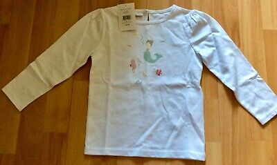 The Little White Company Girls Long Sleeve T-Shirt - Age 3-4 Years - New Rrp £22