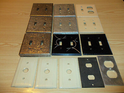 Metal & Plastic Switch And Plug Cover Lot  - Decorative - 60+