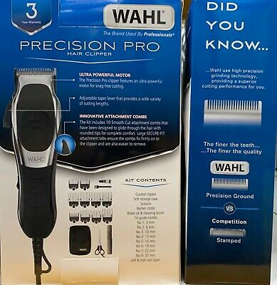 Brand New Wahl Precision Pro Corded Professional Hair Clipper Men's Grooming Kit