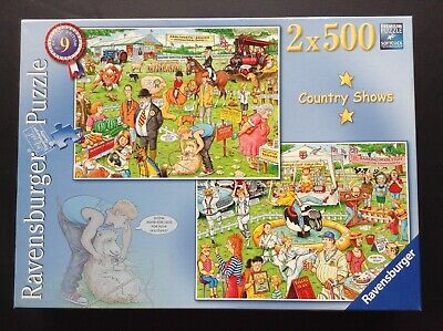 """Ravensburger Jigsaw Puzzles. 2 X 500 pieces """"Country shows"""""""