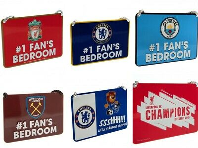 Official Football Team Metal Collectible Bedroom Hang Up Fan Supporter Sign Gift