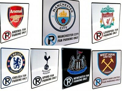 Official Football Team Metal Collectible No Parking Sign Supporter Fan Gift