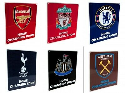 Official Football Team Metal Collectible Home Changing Room Sign Supporter Gift