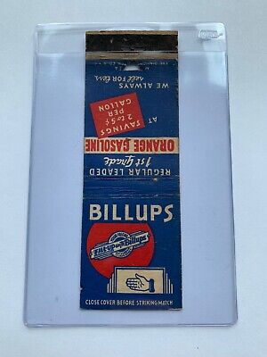 Vintage BILLUPS GAS OIL My Friend Fill Up Matchbook Advertising