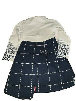 Elle Girls Outfit Top Age 5year &skirt Age 8 Years. Bought For Length